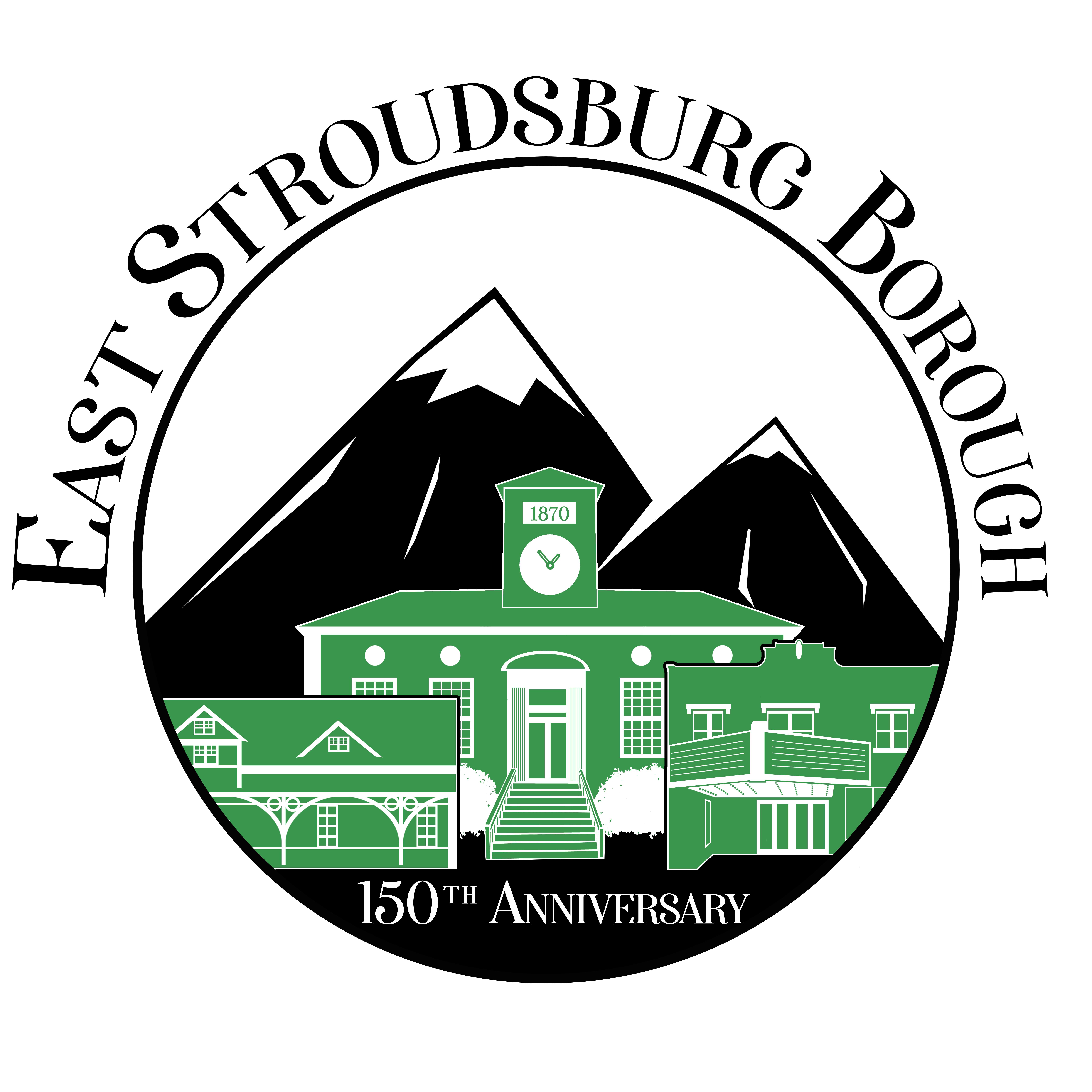 East Stroudsburg Borough 150th Anniversary Logo